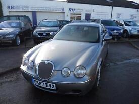JAGUAR S TYPE SE 2.7D DIESEL AUTOMATIC GREY WITH CREAM LEATHER 57reg TIDY CAR