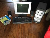 Monitor, keyboard, software and PC minus hard drive