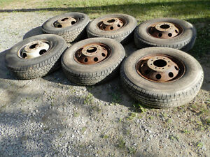 6 new tires on Ford cube van rims
