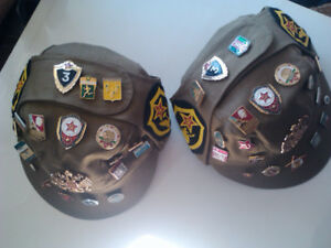 Russian Souvenir Military Hat with Badges