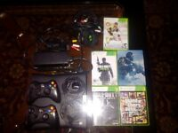 xbox 360 bundle with headset and games 2 controls