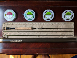 """Sage Z-Axis 7wt 9'6"""" with Fly Lines"""