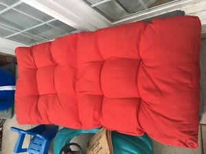 4 Red Outdoor Chair cushions