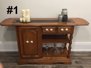 Gorgeous real wood dressers / consoles