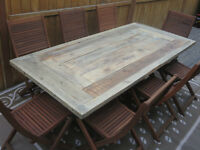 Handcrafted Rustic Farm Table for Sale