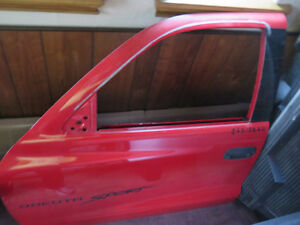 Red Doors, glass, side windows 2000 Dakota Extended Cab