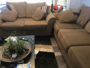 Oversized couch and love seat
