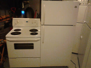 Westinghouse fridge AND Whirlpool stove