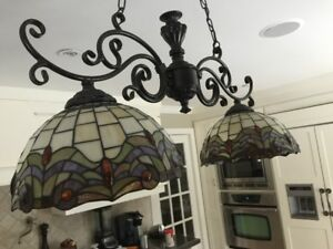 Antique lights - Kitchen island