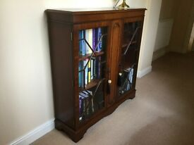 Mahogany Glazed Bookcase
