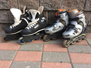 Kids Rollerblades - 2 pairs available