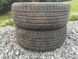 Two 205/55R16 Summer Tires Excellent Tread
