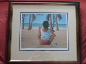 Limited Edition Lithograph, Tropical Treat, by Wayne Fagan.