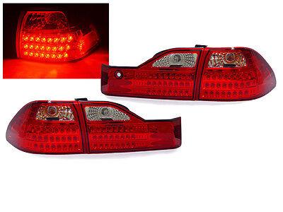 DEPO Euro Style Red/Clear LED Tail Light For 2001-2002 Honda Accord 4 Door Sedan - Honda Accord 4dr Euro Tail