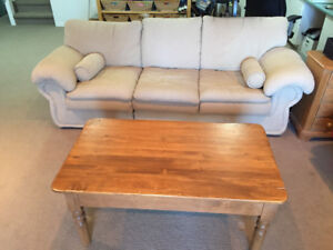 Comfy Used Sofa with Free Coffee Table