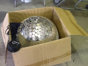 "Motorized disco balls 10"" and 19"" I good condition"
