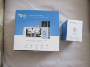 Ring 2 video doorbell with Ring chime