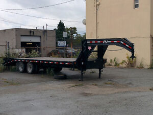 30' Gooseneck/ Fifth wheel flat bed for sale