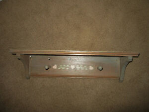 """Pine shelf """"distressed"""" look 24 inches long"""
