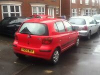 toyota yaris T3 1.0 litre petrol in red 77k mileage look