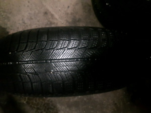 Almost new Michelin X  ice snow tires and premium ste. 225 60 16