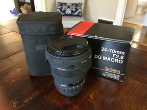 Sigma 24-70mm F2.8 Lens (For Nikon)