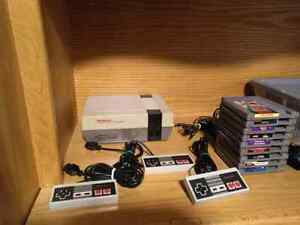 NES WITH 9 GAMES AND HOOKUPS