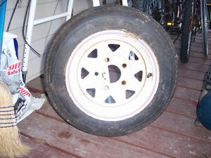 new spare tire and rim for boaT or camper trailer 5 bolt 4,80 x