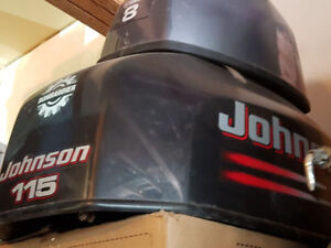 Johnson 115 hp outboard Cowling, like new.