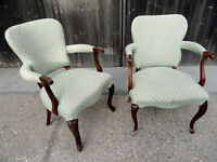 Pair of Vintage Art Deco style bedroom Chairs.