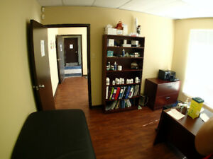 $700+ HST all in.  Partially furnished office space.