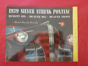1939 PONTIAC SILVER STREAK SIX / EIGHT Dealer Sales Brochure