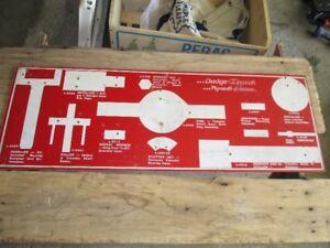 Vintage Dodge Omni Plymouth Horizon  hanging tool board