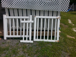 vynal fence 6 ft, 3 ft ,2ft and 3ft door