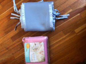 Breathable mesh crib liner/ tour de lit en filet pour bassinette