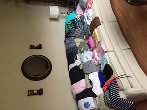 Assorted women's clothing