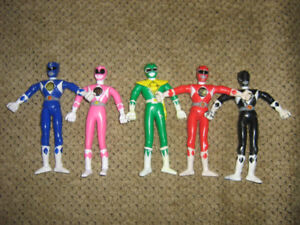 MIGHTY MORPHIN POWER RANGERS BENDABLES FIGURE LOT