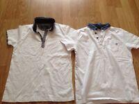 2 x Jasper Conran White Boys Polo T-Shirts