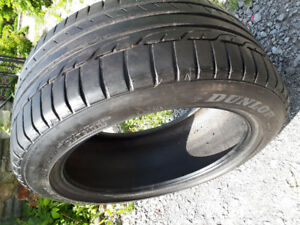 2 pcs of 235/45 R 17 used tires