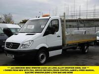 "2013 MERCEDES SPRINTER 313 CDI EF LWB 14""FT ALLOY DROPSIDE DIESEL VAN,1 OWNER,CR"