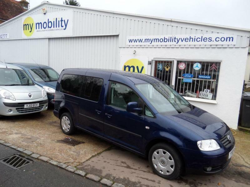 Volkswagen Caddy Maxi Automatic Wheelchair Scooter Accessible ALLIED Car WAV