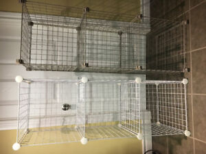 2 Wire Cube Shelves