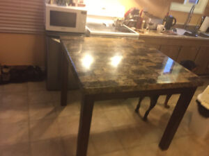 42x42 36 high table with two high chairs