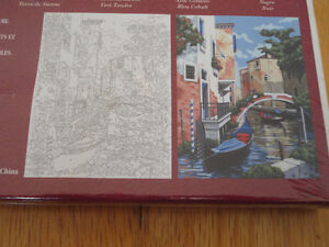 NEW paint by Numbers canvas acrylic paints mixing tray brush Set London Ontario image 2