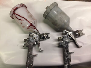 Two spray guns, 1.4mm, 2.0mm. Barely used