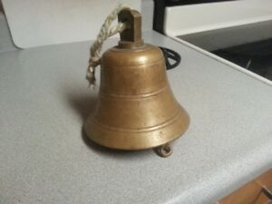Antique solid brass ships bell