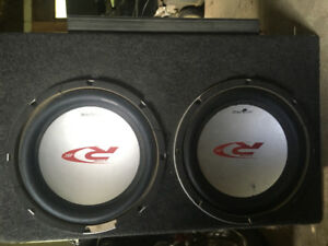 """2 x Alpine Type R15"""" Subwoofers w/ Box and Amp. $700 obo"""