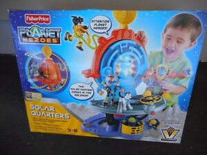 Fisher-Price Planet Heroes SOLAR QUARTERS Playset: New