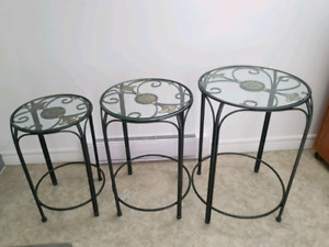 Set of 3 Beautiful End Tables/Plant Stands