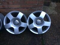 2 Audi 16 inch alloy wheels